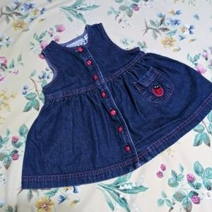 Denim BABY Girl's Dress w/Lady Bugs 18 Months